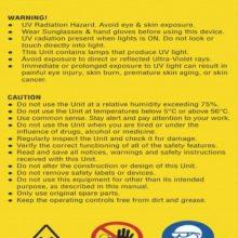 UV Caution